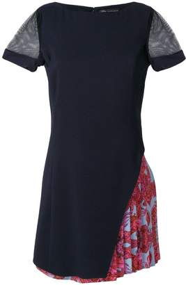 Versace Woman Lace-trimmed Embellished Pleated Silk-crepe Mini Dress Black Size 38 Versace lSvZMHv