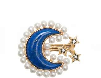 Lapis AMMANII - Pearls & Lazuli Sa'Mma Ring