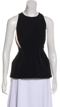 Stella McCartney Mesh-Paneled Peplum Top