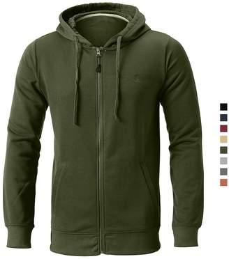 Herrenmode Kleidung & Accessoires Wellcoda New Mens Hoodie Pink Casual Hooded Sweatshirt