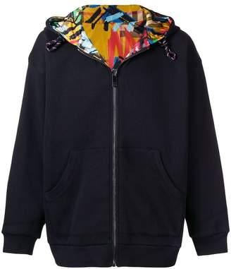 Burberry Reversible graffiti hoodie