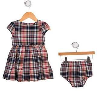 Ralph Lauren Girls' Plaid Two-Piece Dress Set