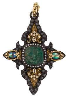 Armenta Chalcedony, Topaz & Diamond Pendant