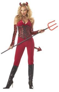 California Costumes Women's She Devil Costume,Red/Black