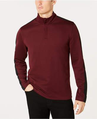 Alfani Men Ottoman Stripe Quarter-Zip Mock-Collar Sweater