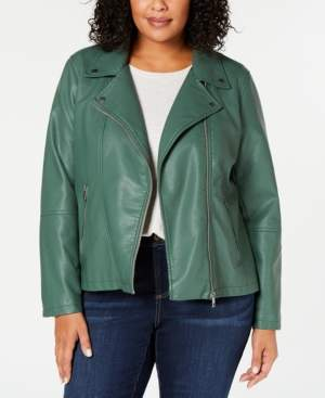 Style&Co. Style & Co Plus Size Faux-Leather Moto Jacket, Created for Macy's