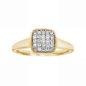 Love 360 LOVE 360 10k Gold 1/4 Carat T.W. Diamond Wedding Ring