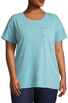 Arizona Short Sleeve Pocket T-Shirt- Juniors Plus