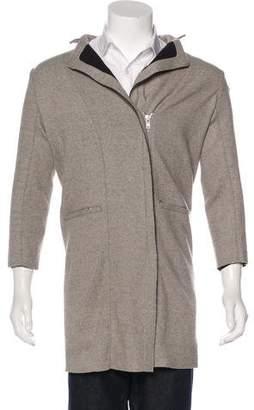 Helmut Lang Wool Notch-Lapel Coat
