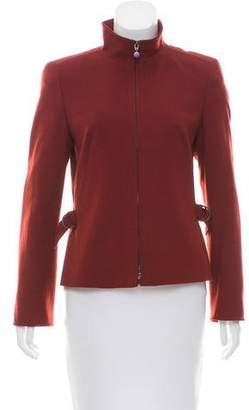 Akris Punto Long Sleeve Wool Jacket