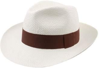 Classic Italy Paille Large Panama Hat Size 58 cm White