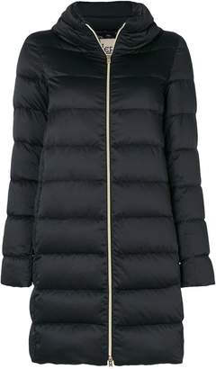 Herno zip up collar puffer coat
