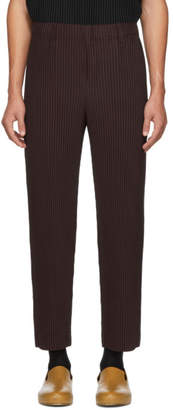 Issey Miyake Homme Plisse Purple Tailored Pleats Trousers