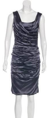 Dolce & Gabbana Silk Sleeveless Cocktail Dress