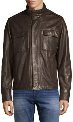 HUGO Classic Leather Jacket