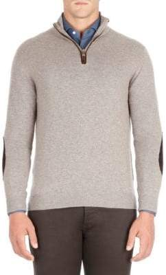 Isaia Half-Zip Cashmere Sweater