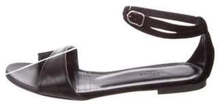 Hermes Suede Ankle Strap Sandals
