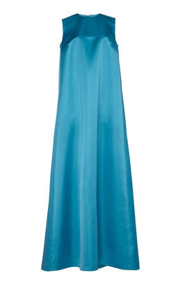 Sara Battaglia Oversized Maxi Shift Dress