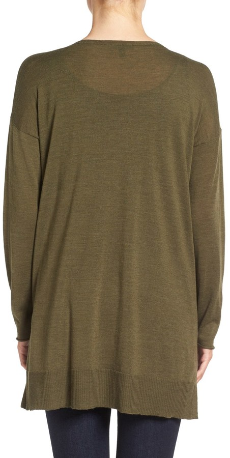 Eileen Fisher Featherweight Merino Wool Sweater 6