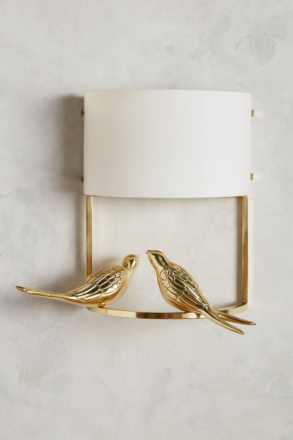 AnthropologieAnthropologie Golden Perch Sconce