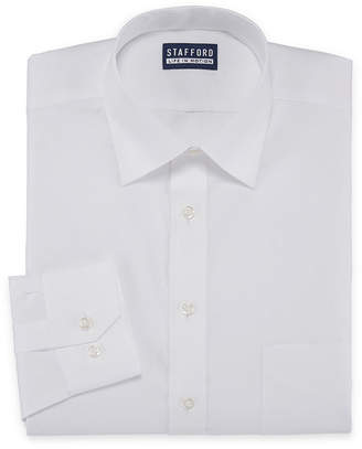 Coolmax STAFFORD Stafford All Season Long Sleeve Woven Dress Shirt- Big And Tall