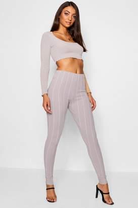 boohoo Tall Pinstripe Skinny Trousers