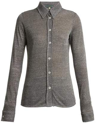 ALEXACHUNG Point Collar Stretch Knit Shirt - Womens - Silver