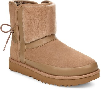 UGG Classic Bow Genuine Shearling Bootie