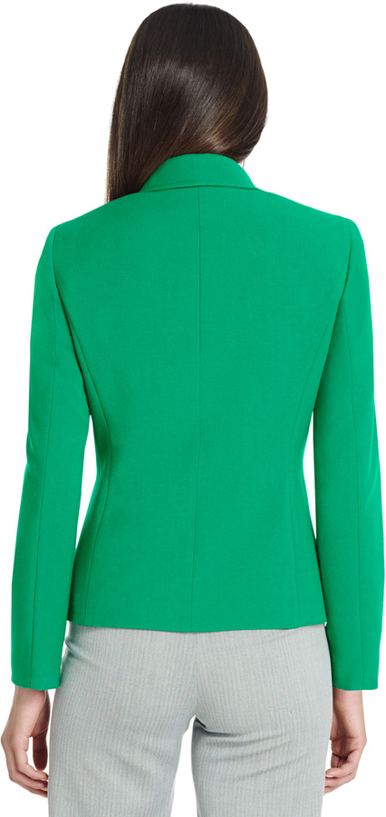 Jones New York Long Sleeve Jacket with Patch Pockets & Top Stitch Detail