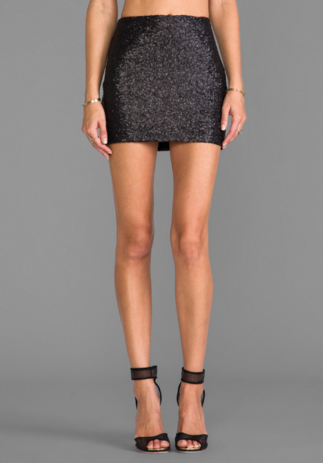 MM Couture by Miss Me Sequin Mini Skirt