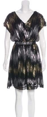 Loeffler Randall Metallic Sleeveless Dress