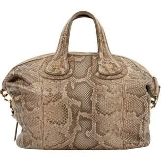 Givenchy Nightingale Brown Python Handbags