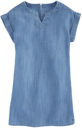 Vineyard Vines Girls Chambray Tunic Dress
