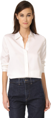 Vince Slim Fitted Blouse $295 thestylecure.com