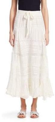 Zimmermann Whitewave Veil Silk Midi Skirt