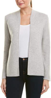 Sofia Cashmere sofiacashmere Sofiacashmere Textured Sleeve Cashmere Cardigan