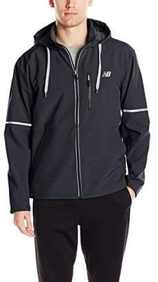 New Balance Men's Printed Soft Shell Bonded Hooded Jacket