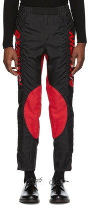 Givenchy Black and Red Two-Toned Biker Pants