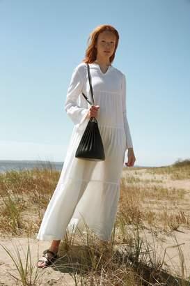 Mansur Gavriel Linen Bohemian Dress - White