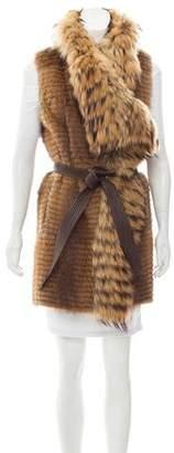 J. Mendel Belted Fur Vest