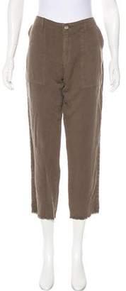 Joie Linen-Blend Mid-Rise Pants w/ Tags