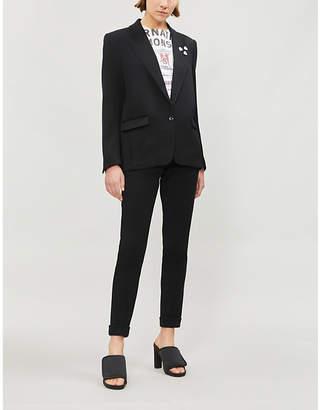 The Kooples Pin-embellished twill blazer