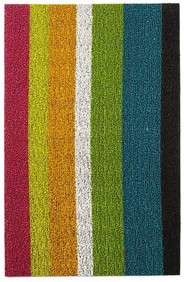"Chilewich Bold Stripe Indoor/Outdoor Shag Mat, 18"" x 28"""