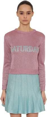 Alberta Ferretti Saturday Lurex Knit Sweater