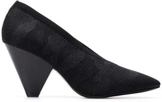 Ash pointed heeled pumps