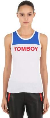 Filles a papa Printed Tomboy Ribbed Tank Top