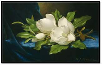 Museums.Co Giant Magnolias on a Blue Velvet Cloth by Martin Johnson Heade Art Block