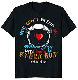 Choose Kind Anti Bullying Space Astronaut Helmet T-Shirt