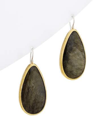 Gurhan One Of A Kind Galapagos 24K & Silver 66.00 Ct. Tw. Obsidian Drop Earrings