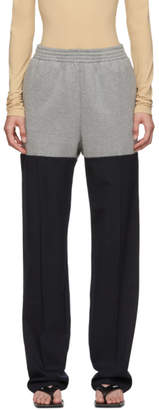 MM6 MAISON MARGIELA Grey and Navy Hybrid Lounge Pants